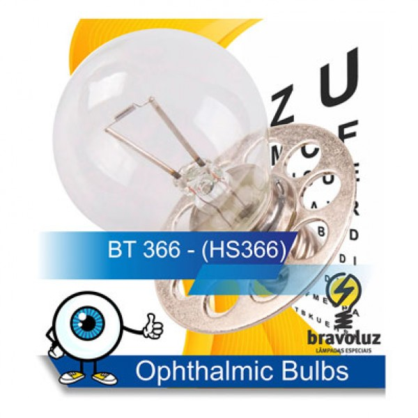 BT 366 6V 4,5A E14 - 9 FUROS - HS366 - MADE in JAPAN - HIKARI LAMPS