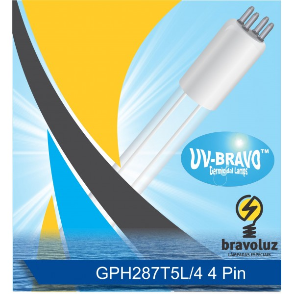 GERMICIDA 14W - GPH287T5L/4 4 Pin - 254nm - UV-BRAVO